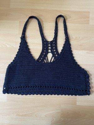 Lira Crochet Top black