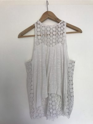 Abercrombie & Fitch Top a uncinetto bianco
