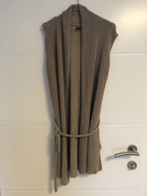 Marco Polo Cardigan all'uncinetto beige