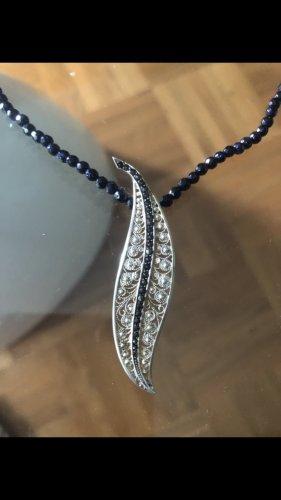 Zilveren ketting zilver-zwart