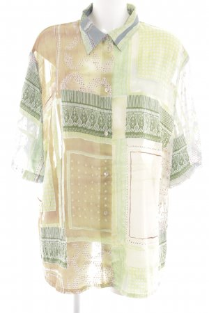 Hämmerle Kurzarm-Bluse abstraktes Muster Casual-Look
