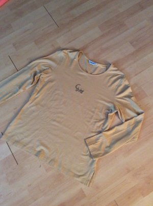 Hämmerle Langarmshirt Gr 38 sandfarben mit Glitzerechse