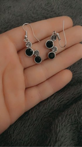 unbekannte Silver Earrings black-silver-colored