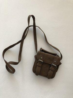 Zara Minibolso marrón grisáceo