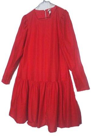 Hängekleid, Minikleid, Hemdkleid, H&m, Gr 46, Tomatenrot, Rüschen, rot