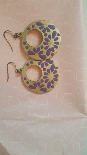 Bijou Brigitte Gold Earring gold-colored-lilac