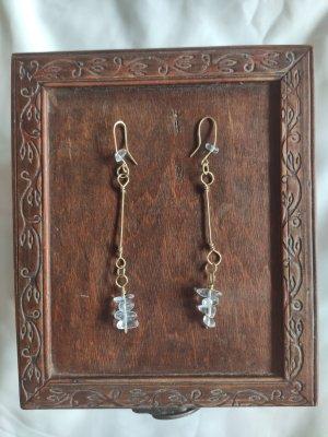 handmade Gold Earring white-gold-colored