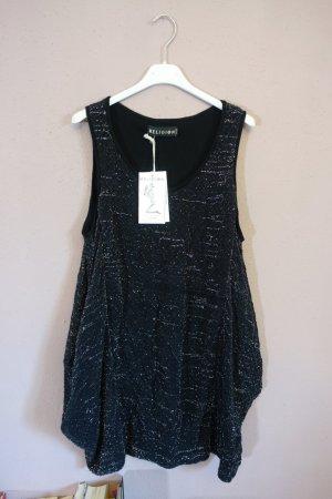 Hängerchen, kurzes Kleid, Religion, Glitzer, schwarz, silber, Taschen, neu