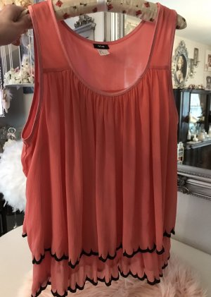 H&M Flounce Top bright red