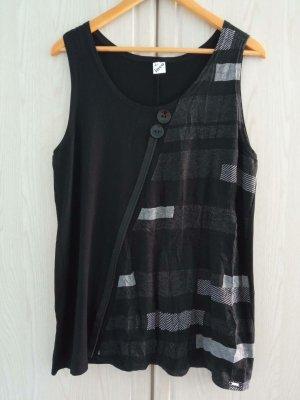 Inco Fashion Tunique de plage noir-gris foncé viscose