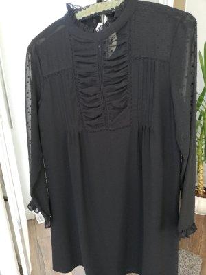 Zara Women Sukienka typu babydoll czarny