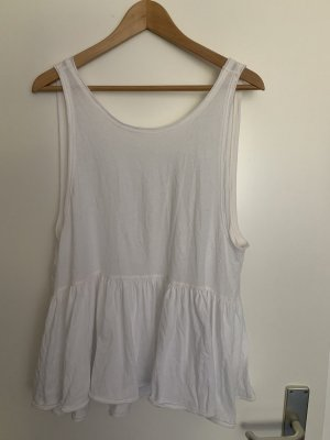 Free People Top a balze bianco sporco-bianco