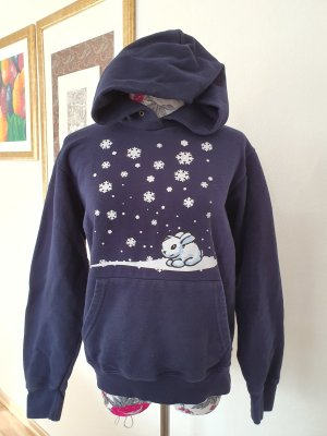 EMP Hooded Sweater white-blue