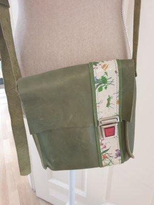 Shoulder Bag grass green-forest green leather