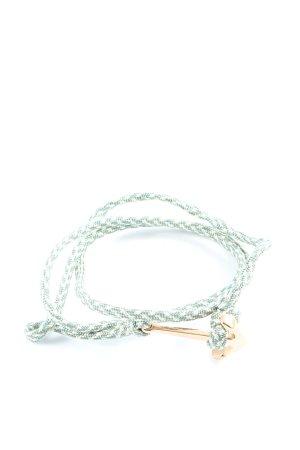 Hafen-Klunker Bransoletka zielony-w kolorze białej wełny W stylu casual