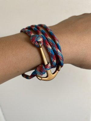 Hafenklunker Armband Anker band bunt segeln