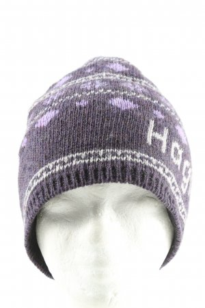 Haglöfs Beanie lila-wit Patroon-mengeling casual uitstraling