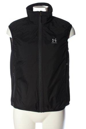 Haglöfs Chaleco deportivo negro-blanco estampado temático look casual