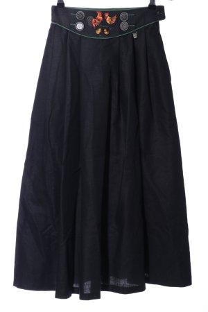 Hagro Trachtenrock schwarz Schriftzug gestickt klassischer Stil