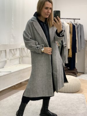 Manteau oversized noir-blanc