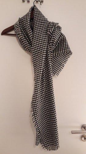 Bufanda de punto blanco-negro Acrílico