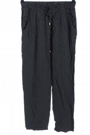 Haily's Pantalón abombado negro-blanco look casual