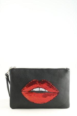 Haily's Clutch schwarz-rot Motivdruck Elegant