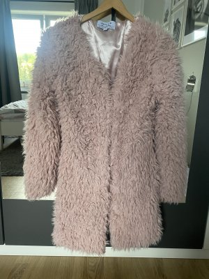 Haily's Płaszcz ze sztucznym futrem różowy