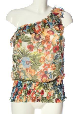 Haily's Haut avec une épaule dénudée motif de fleur style décontracté