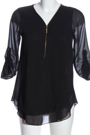 Haily's Transparentna bluzka czarny W stylu biznesowym
