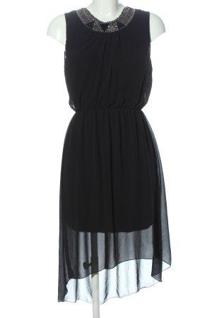 Haily's Robe bas asymétrique noir élégant