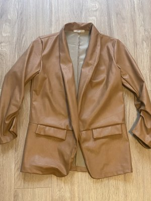 Haily's Leather Blazer cognac-coloured-brown