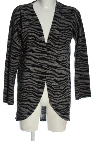 Hailys Cardigan light grey-black allover print casual look