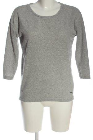 Hailys Pullover in pile grigio chiaro puntinato stile casual