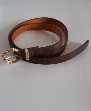 Hailys Cinturón de cuero de imitación color oro-marrón