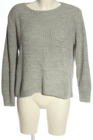 Hailys Szydełkowany sweter jasnoszary W stylu casual