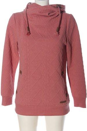 Hailys Felpa con cappuccio rosa Stampa a tema elegante