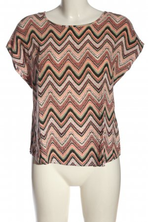 Hailys Kurzarm-Bluse grafisches Muster Casual-Look