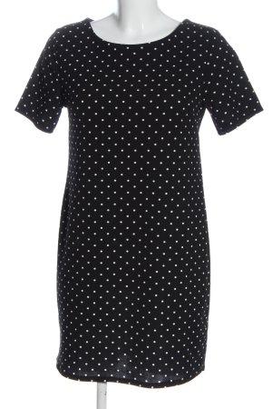 Hailys Shortsleeve Dress black-white flecked casual look