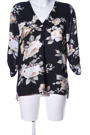 Hailys Langarm-Bluse Blumenmuster Casual-Look