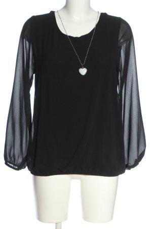 Hailys Camicetta a maniche lunghe nero stile casual