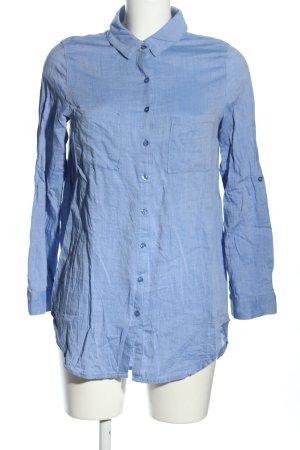 Hailys Langarmhemd blau Casual-Look