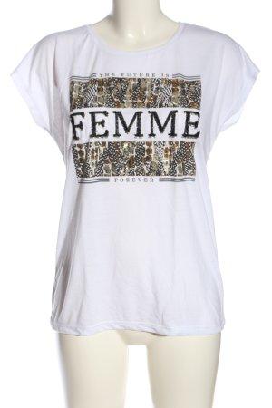 Hailys Print-Shirt weiß Schriftzug gedruckt Casual-Look
