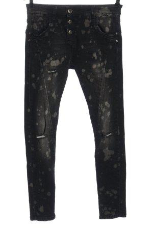 Hailys Tube Jeans black-light grey casual look