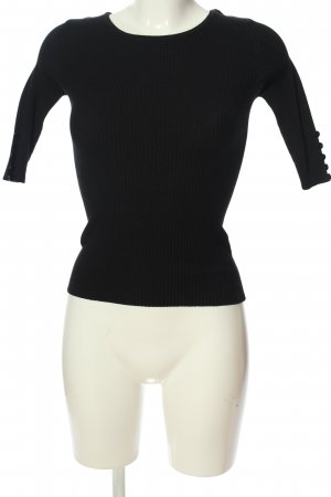 Hailys Ribbed Shirt black casual look