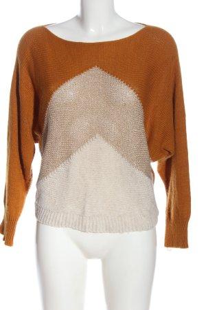 Hailys Crewneck Sweater cream-brown casual look