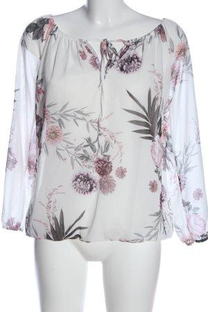 Hailys Schlupf-Bluse Blumenmuster Casual-Look