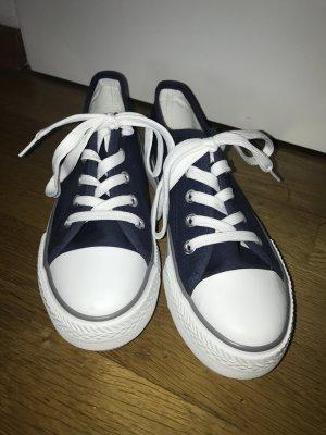 Hailys Schuh Canvas Sneaker hohe Sohle 4 cm blau Gr. 38