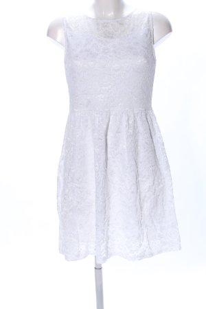 Hailys Vestido de encaje blanco elegante