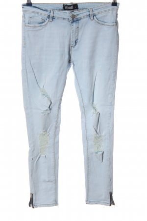 Hailys Slim Jeans light grey casual look
